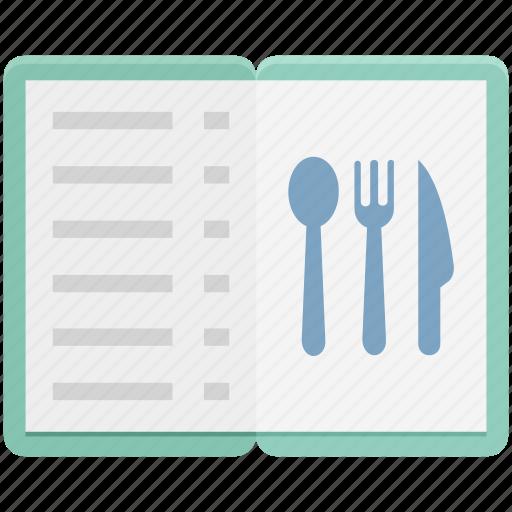 Cuisine menu, food menu, menu, menu book, menu card icon - Download on Iconfinder