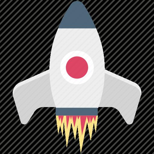 missile, rocket, rocket launch, spacecraft, spaceship icon