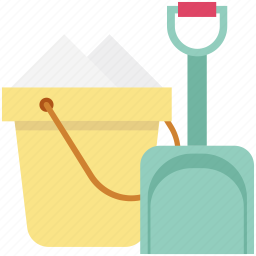 Beach toys, bucket, pail, snow spade, spade icon - Download on Iconfinder