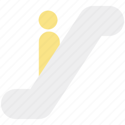 down stairs, escalator, moving stairs, staircase, staircase elevator icon