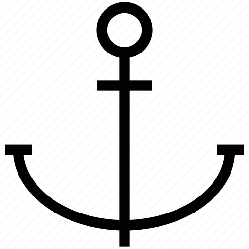 anchor, boat anchor, direction, marine, nautical, vessel anchor icon