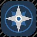 compass, device, navigation, navigator icon
