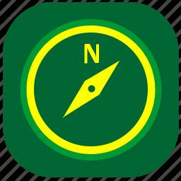 compass, navigation, navigator, orientation icon