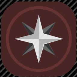 compass, navigation, navigator, side icon