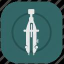 instrument, measure, navigation, navigator icon