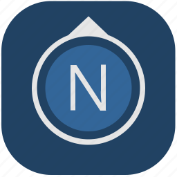 compass, navigation, navigator, north, side icon