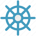 boat, ship, ship wheel, wheel icon
