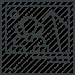 landmark, picture icon