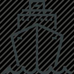 liner, ocean, voyage icon
