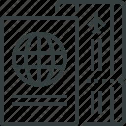 passport, ticket icon