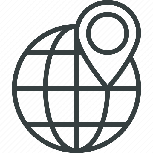 the, travel, world icon
