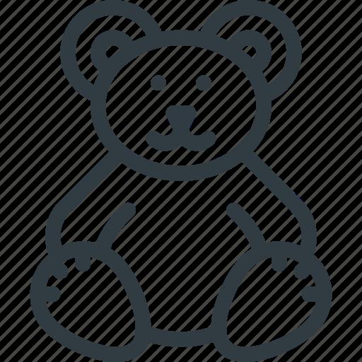bear, plush, teddy, toy icon