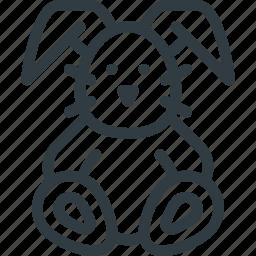 bunny, plush, toy icon