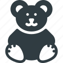 bear, plush, teddy, toy icon