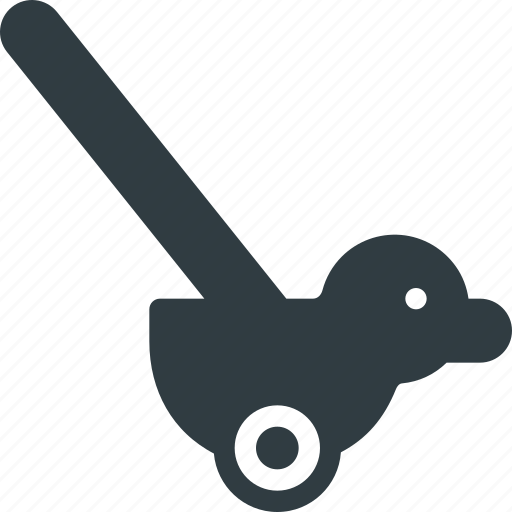 duck, pushalong, toy icon