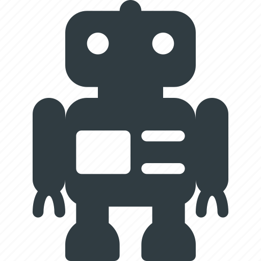 robot, science, toy icon