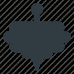 gyroscope, top, turntable, whirligig icon