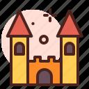 amusement, castle, games, kid, playful icon