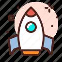 amusement, games, kid, playful, rocket icon