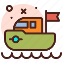 amusement, games, kid, playful, ship icon