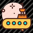amusement, games, kid, playful, submarine icon