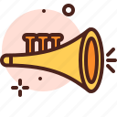 amusement, games, kid, playful, trumpet icon