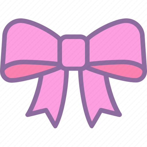 birthday, bow, gift, package, pink, present, ribbon icon