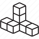 blocks, build, building, construct, create, game, toy icon