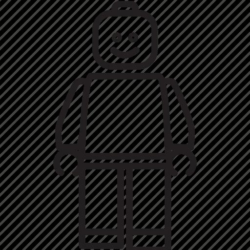 build, construct, create, game, leggo, man, toy icon