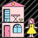 dollhouse, dollhouse icon, playhouse, toy