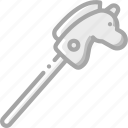 horse, stick, toy, toys icon
