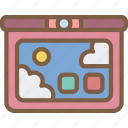 kids, tablet, toy, toys icon
