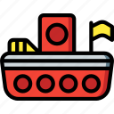 toy, boat, toys icon