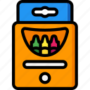 crayons, toy, toys icon