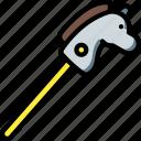 horse, stick, toy, toys icon