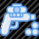 ball, foam, gun, toy, toys icon