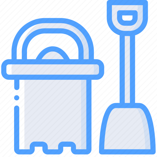 and, bucket, spade, toy, toys icon