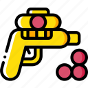 ball, foam, gun, toy, toys icon