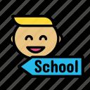 children, educate, play, school, toy icon