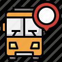 bus, tracking, transportation, public, transport, pin, location
