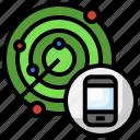 radar, searching, smartphone, location, gps
