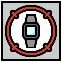 smartwatch, tracking, aim, electronics, target, location
