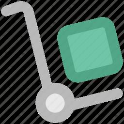 hand trolley, hand truck, luggage trolley, platform truck, shopping cart, trolley icon