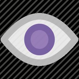 eye, look, ratina, see, view, visible icon