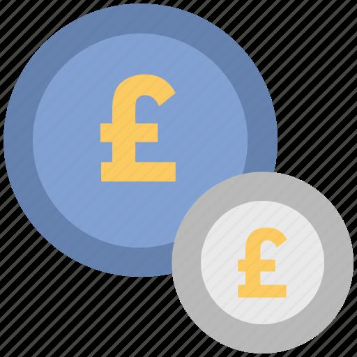 british pound, money, payment, pound coins, pound sack icon