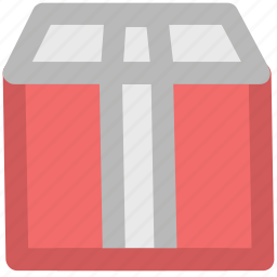 box, courier box, delivery box, package, packed box, parcel, sealed box icon
