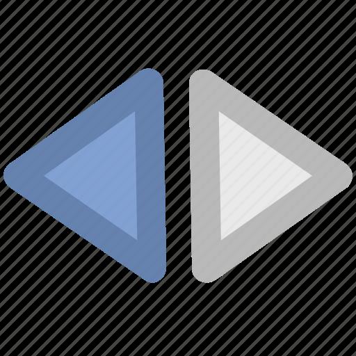 back, fast forward, forward, multimedia button, next, pervious, right icon