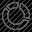 business, pie chart, portfolio, stock, trade icon