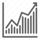 chart, direction, report, statistic, stock, trade, up icon