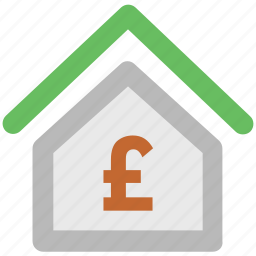 british pound, business, home, house, money, pound, property icon